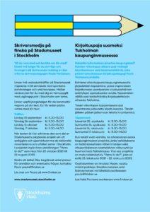 Skrivarkurs på finska stockholms stadsmuseum